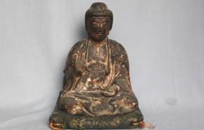 木彫漆箔薬師如来坐像 鎌倉時代