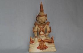 石造彩色仏陀坐像(タイ) 15~16世紀