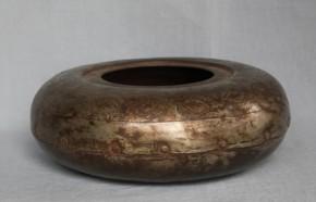鉄製平水指 江戸時代