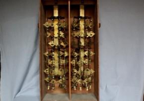 銅製瓔珞二重七段飾り 一対 江戸時代