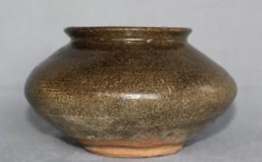 黒高麗塩笥小服茶碗   李朝時代前期