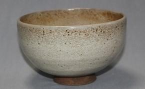 上野焼無地釉茶碗 江戸時代