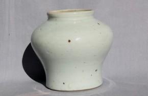 李朝白磁壺 李朝時代後期