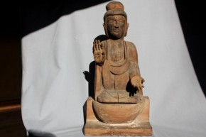 木彫漆箔阿弥陀如来坐像   平安~鎌倉時代