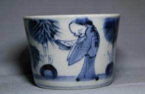 古伊万里竹林賢人図蕎麦猪口(157)   江戸時代後期