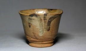 絵唐津立酒盃(1)   江戸時代中期~後期