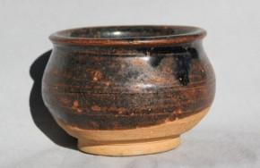 中国磁州窯天目釉塩笥小服茶碗 明朝時代