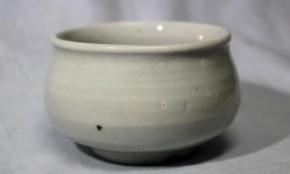 李朝白磁塩笥形酒盃 李朝時代後期