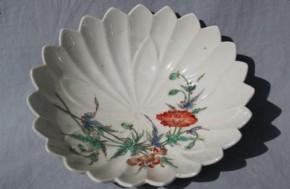 色絵柿右衛門手輪花形小鉢(4個) 江戸時代後期