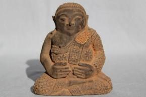 土製彩色仏像 東南アジア 18~19世紀