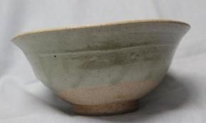 李朝白磁大振茶碗 李朝時代後期
