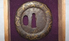 鍔 (105) 鉄地金象嵌平安城鍔 江戸時代