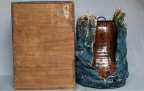 古瀬戸飴釉瓢箪形水指 江戸時代初期 窯変珍品