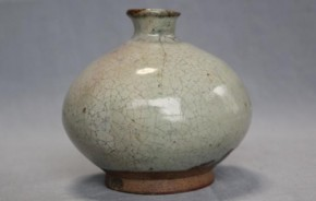 唐津斑釉徳利 江戸時代前期