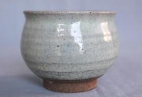 李朝会寧斑釉塩笥盃 李朝時代後期