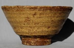 黄伊羅保茶碗 江戸時代