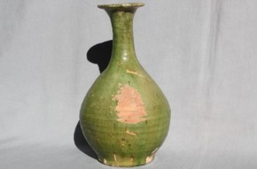 緑釉陶器水瓶 中国遼時代