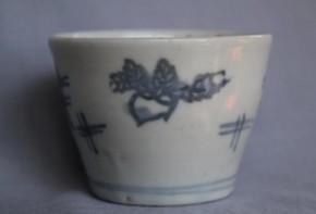 初期手井桁.印判蕪図蕎麦猪口(57) 17世紀