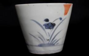 初期手並び水仙文蕎麦猪口(80) 17世紀