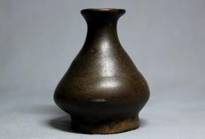 李朝黒高麗化粧水入  珍品  李朝時代初期