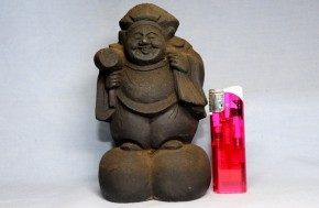 木彫大黒像(4)  江戸時代  丸々の米俵・太い足