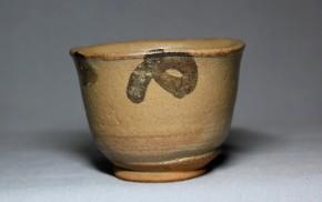 絵唐津立酒盃(4)   江戸時代中期~後期