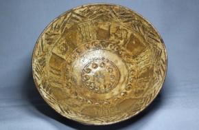 三島手刷毛目茶碗   江戸時代後期