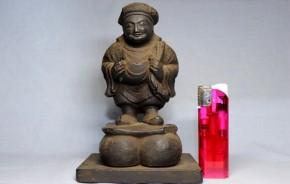 木彫大黒像(5)  江戸時代  端正なお顔・サーフイン  珍品