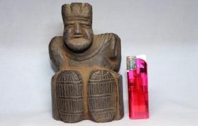 木彫大黒像(6)  江戸時代  縦長の米俵  珍品