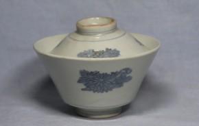 古伊万里蒟蒻印判飯茶碗   江戸時代中期   本物保証