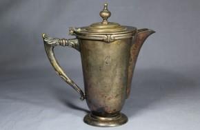 銀メッキ紅茶入れ 19~20世紀  西欧製