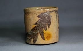 絵志野立酒盃(2)   江戸時代中期