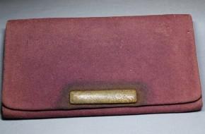 皮製財布(3) 江戸時代  紫の長財布