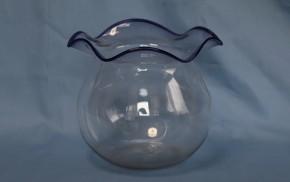 縁紺輪花形金魚鉢   大正時代