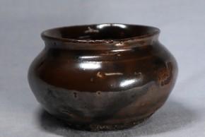 李朝飴釉塩笥壺    李朝時代後期