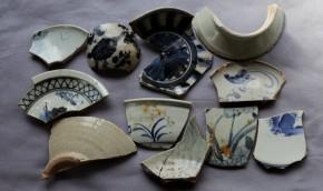 初期伊万里茶碗破片など(27) 11点   江戸時代初期