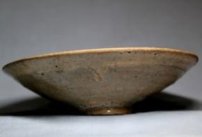 李朝無地刷毛目平茶碗 李朝時代初期