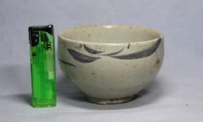 李朝染付茶碗   李朝時代後期    本物保証