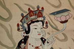 仏画普賢菩薩・文殊菩薩  双幅   江戸時代