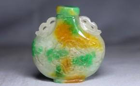 翡翠製鼻煙壺   清朝時代