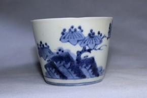 古伊万里岩桐文文蕎麦猪口(235-4)   江戸時代後期   本物保証