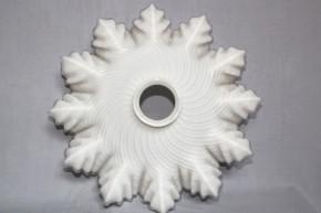 乳白色12輪花形電気笠   明治~大正時代