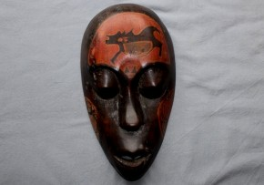 アフリカ木製仮面   20世紀