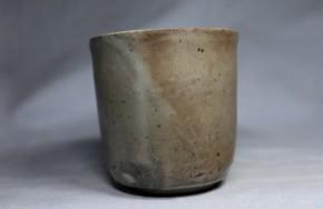 萩焼粉引立盃   江戸時代後期