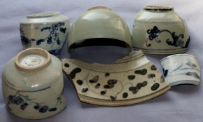 初期伊万里茶碗破片など(25) 6点   江戸時代初期