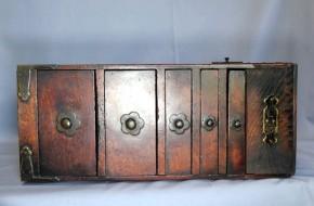 通い髪結い道具箱(鬢盥)     江戸時代後期
