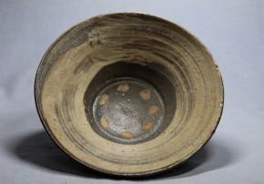 蕎麦刷毛目茶碗(1-1)   李朝時代初期(16c)