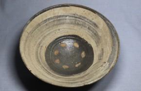 蕎麦刷毛目茶碗(1)   李朝時代初期(16c)