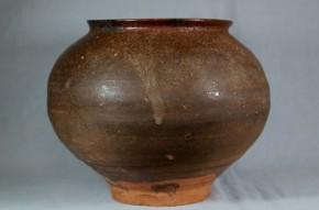 高麗黒釉天目壺   李朝時代後期