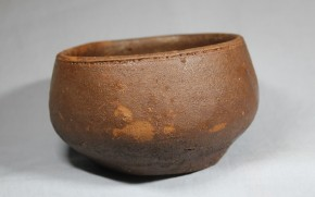 琉球壺屋(?)焼締小鉢(茶碗) 18世紀